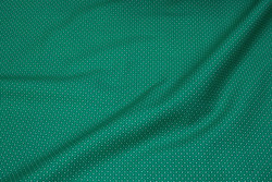Firm, jade-green cotton with small motif