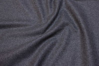 Medium-thickness medium-grey wool-polyester flannel