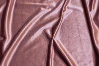 Old rose, shiny stretch-velvet