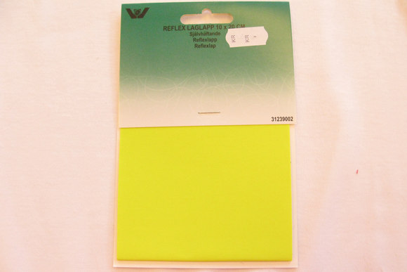 Reflex nylon patch yellow 10 x 20 cm