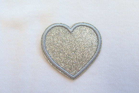 Silver star patch 4 cm