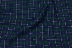 Skjorte-flannel in navy and green checks