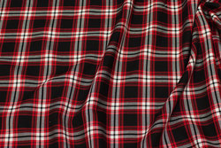 Soft shirt-cotton in black, red, white checks