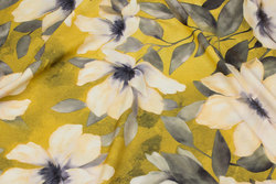 Very light micro-polyester with light stretch in yellow, grey and off white