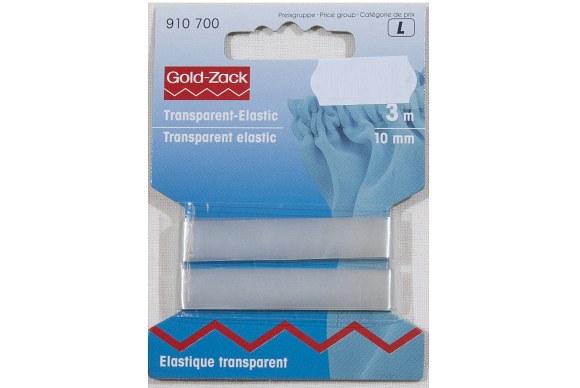 Transparent elastic, 10 mm wide, 3 meters