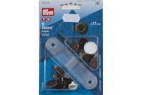 Press fasterners for jeans etc., 17 mm, 8pcs