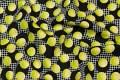 Black-lime patchworkcotton with tennisballs