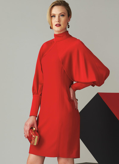 High Neck Dress with Full Sleeves, Tom and Linda Platt
