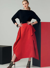 Vogue pattern: Top and Draped Skirt, Paco Peralta