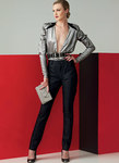 Deep V Top and Seam-Detail Pants, Guy Laroche