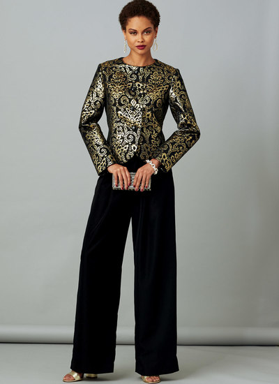 Petite Jacket with Back Tie and Pull-On Pants, Claire Shaeffer