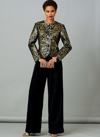 Vogue 9277. Petite Jacket with Back Tie and Pull-On Pants, Claire Shaeffer.