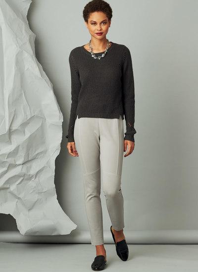 Seam-Detail Knit Pants, Marcy Tilton
