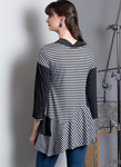 Semi-fitted tops have neck and sleeve variations and shaped hemlines. For two-way stretch knits only.