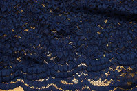 Navy blue dress-lace-fabric with 2 curvy sides