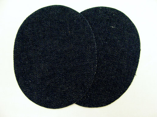 Denim patch black 2pcs