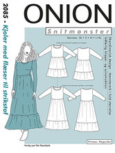 Dress with flounce for knits. Onion 2085.
