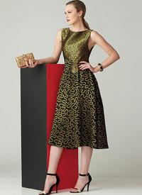 Fit-and-Flare Sleeveless Dress, Zandra Rhodes. Vogue 1566.