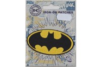Batman logo iron-on patch, 8 x 4.5cm