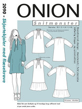 Shirt-dresses with flounce-collar. Onion 2090.