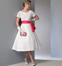 Vogue pattern: Dress and Sash, Vintage Vogue