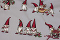 Light grey cotton with fun elfs and berries