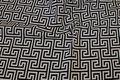 Black white Greek patterned furniture fabric