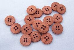 Coconut button marsala 15mm