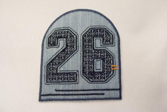 26 blue denim patch 7 x 8 cm