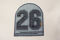 26 blue denim patch 7 x 8 cm