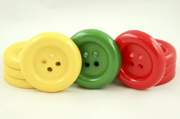 Big clown buttons in hard plastic