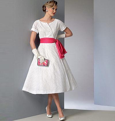 Dress and Sash, Vintage Vogue