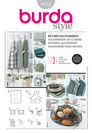 Kitchen accessories, bbq gloves, aprons, bread basket. Burda 8125.