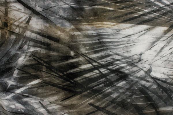 Beautiful velvet in grey nuances