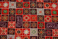 Checked christmas fabric in beautiful red colors