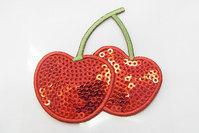 Cherry sequin patch 4 x 6 cm