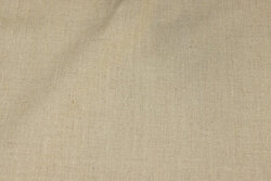 Coated textile-table-cloth in natural-colored linen