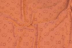 Cotton-jersey in marsalafarvet with ca. 25 mm hippopotamuses