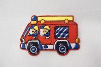 Cute fire truck patch 7x5cm
