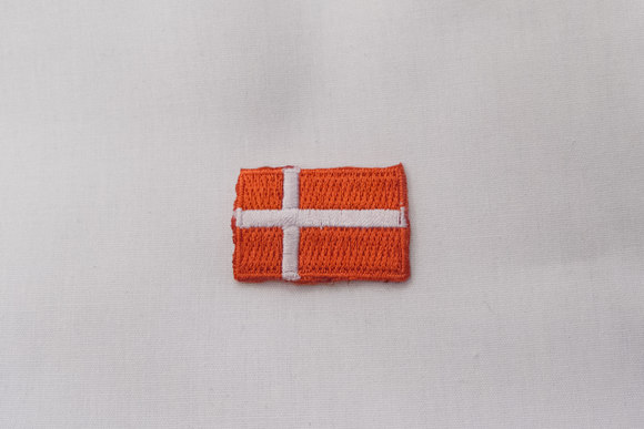 Danish flag patch, 3 x 2 cm