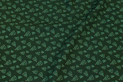 Dark green christmas-cotton with ca. 2 cm pine trees