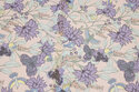 Delicate dusty old rose cotton with ca. 3 cm purple flowers