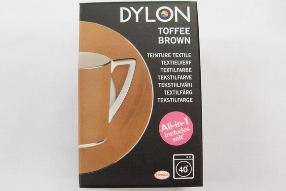 Dylon textile washing machine dye, toffee brown