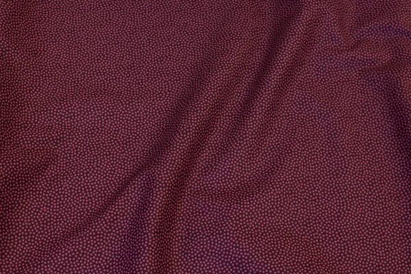 Eggplant-colored cotton with soft red micro-dots