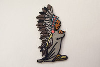 Indian chief patch 8 x 3 cm