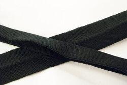 Knittet bias tape black 3 cm