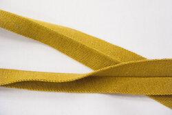 Knittet bias tape curry 3 cm