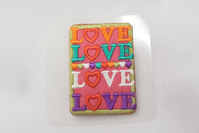 Love patch pink 4x6cm