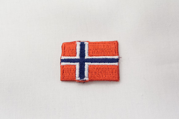 Norwegian flag patch, 3 x 2 cm