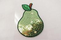 Pear sequin patch 5 x 6 cm